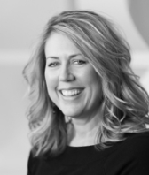 black and white headshot of Candace Nelson, Vice President of Sales at Intereum