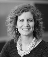 black and white headshot of Kate Silbernick, PMP, Leadership Team, Project Management & Project Coordination at Intereum