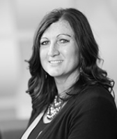 black and white headshot of Lori Van Hulzen, Leadership Team, Sales at Intereum