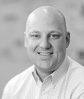 black and white headshot of Mark Lorenson, Leadership Team, Audio Visuals at Intereum