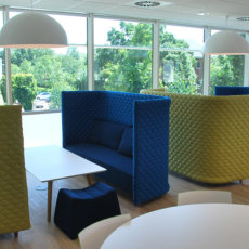 Bmw Alphabet Cloud High Back Sofas With Pinch Stools