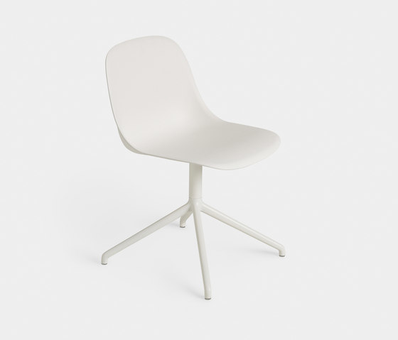 Fiber Sidechair Swivel White Med Res N B