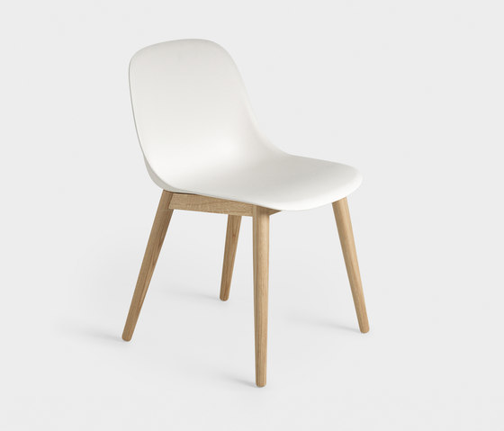 Fiber Sidechair Wood White Med Res N B