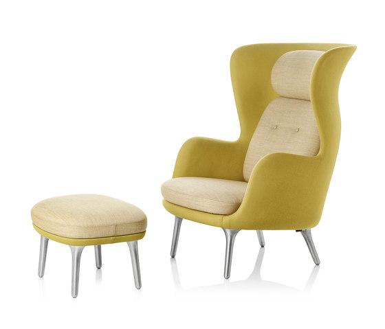 Ro Jh2 Footstool Jh12 Designercolours Yellow Fritzhansen B